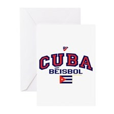 CU Cuba Baseball Beisbol Greeting Cards (Pk of 10)
