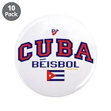 """CU Cuba Baseball Beisbol 3.5"""" Button (10 pack)"""