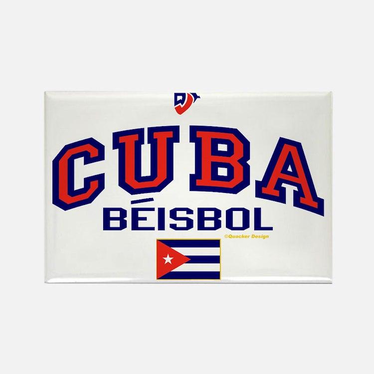 CU Cuba Baseball Beisbol Rectangle Magnet
