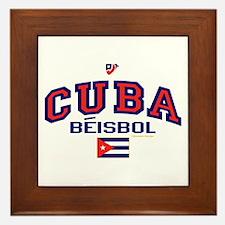 CU Cuba Baseball Beisbol Framed Tile