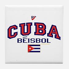 CU Cuba Baseball Beisbol Tile Coaster
