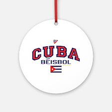 CU Cuba Baseball Beisbol Ornament (Round)