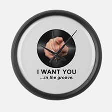 I Want You In The Groove Large Wall Clock