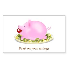 Feast on Your Savings Piggy Bank Decal