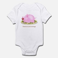 Feast on Your Savings Piggy Bank Infant Bodysuit