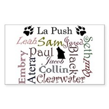 La Push Words Rectangle Decal