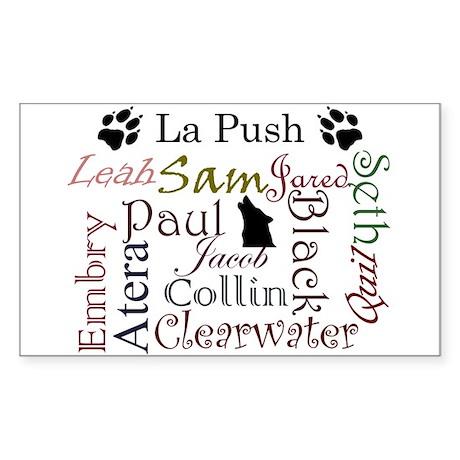 La Push Words Rectangle Sticker