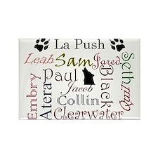 La Push Words Rectangle Magnet