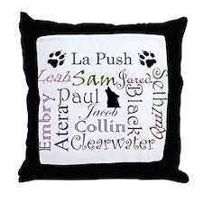 La Push Words Throw Pillow