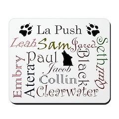 La Push Words Mousepad
