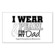 IWearPearl Dad Rectangle Decal