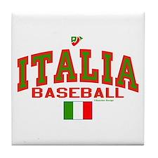 IT Italy Italia Baseball Tile Coaster