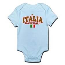 IT Italy Italia Baseball Infant Bodysuit