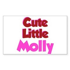 Cute Little Molly Rectangle Decal