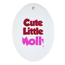Cute Little Molly Oval Ornament
