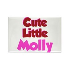 Cute Little Molly Rectangle Magnet