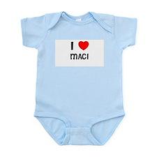 I LOVE MACI Infant Creeper