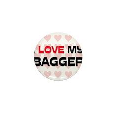 I Love My Bagger Mini Button