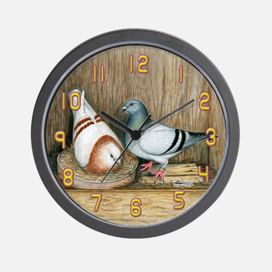 Nesting Homers Wall Clock