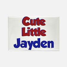 Cute Little Jayden Rectangle Magnet