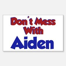 Don't Mess With Aiden Rectangle Decal