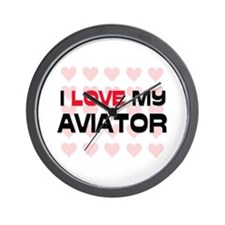 I Love My Aviator Wall Clock