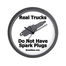 Real Trucks Do Not Have Spark Plugs - Wall Clock