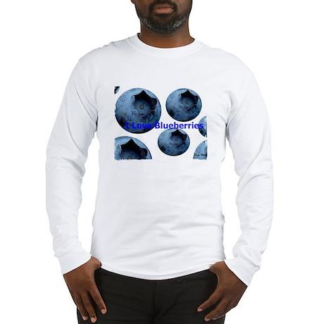 I Love Blueberries Long Sleeve T-Shirt