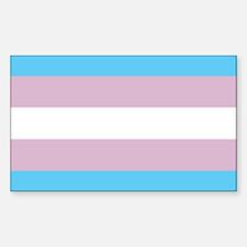 Transgender Pride Flag Rectangle Decal