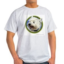 West Highland White Terrier Art Ash Grey T-Shirt