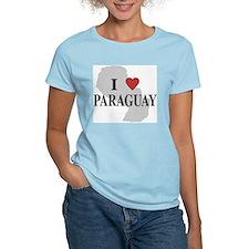 I Love Paraguay Women's Pink T-Shirt