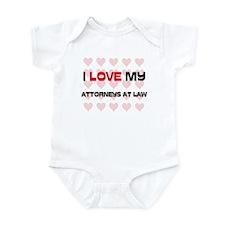 I Love My Attorneys At Law Infant Bodysuit
