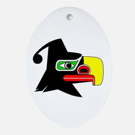 Cute Native art Oval Ornament