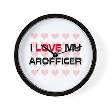 I Love My Arofficer Wall Clock