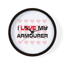 I Love My Armourer Wall Clock