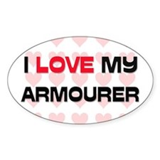 I Love My Armourer Oval Decal