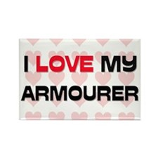 I Love My Armourer Rectangle Magnet