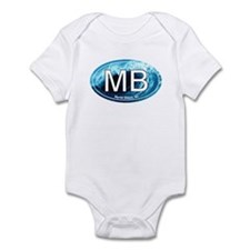MB Myrtle Beach Ocean Wave Oval Infant Bodysuit