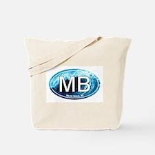 MB Myrtle Beach Ocean Wave Oval Tote Bag