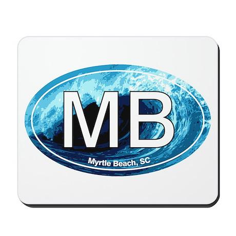 MB Myrtle Beach Ocean Wave Oval Mousepad