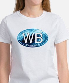 WB Wrightsville Beach Wave Oval Women's T-Shirt
