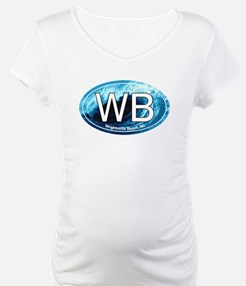WB Wrightsville Beach Wave Oval Shirt
