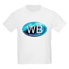 WB Wrightsville Beach Wave Oval T-Shirt