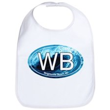 WB Wrightsville Beach Wave Oval Bib