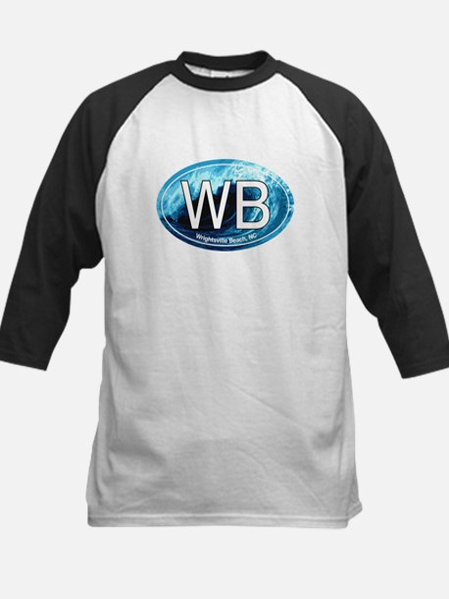 WB Wrightsville Beach Wave Oval Kids Baseball Jers