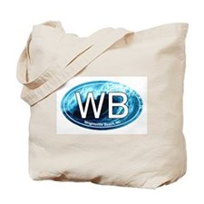 WB Wrightsville Beach Wave Oval Tote Bag