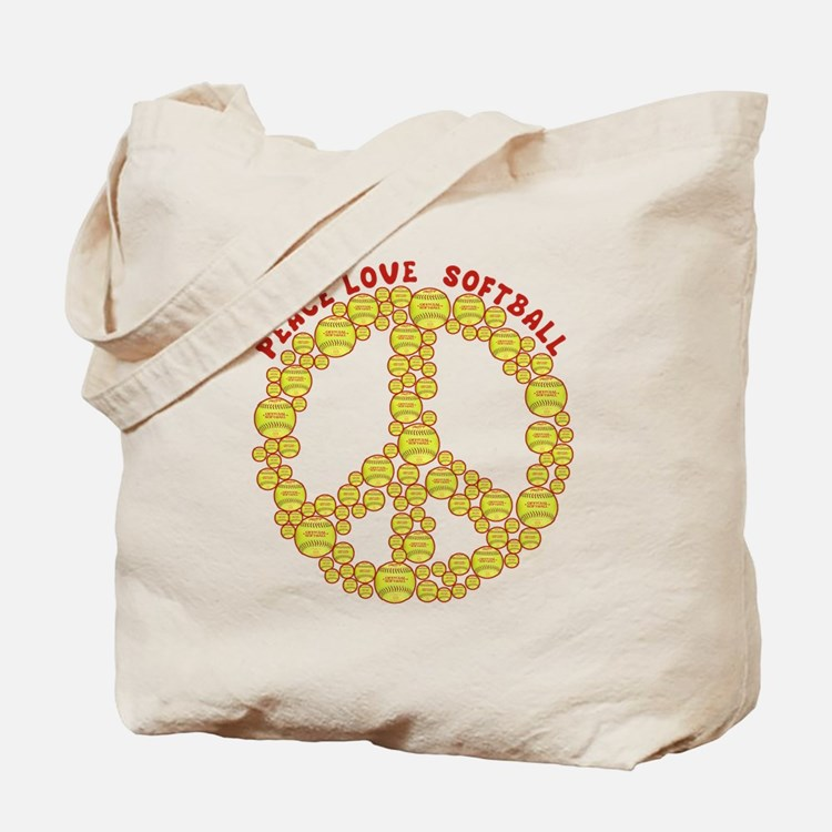 Cute Peace love baseball Tote Bag