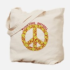 Unique Peace love baseball Tote Bag