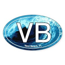 VB Vero Beach Wave Oval Oval Decal
