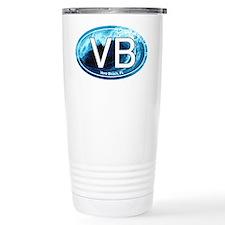VB Vero Beach Wave Oval Travel Coffee Mug
